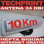 Antena 10 Km Todo Clima 24 Dbi Hepta Biquad Cliente Internet