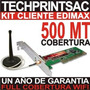 Kit Pc Captura Wifi 500mt Internet Gratis Edimax Antena Omni