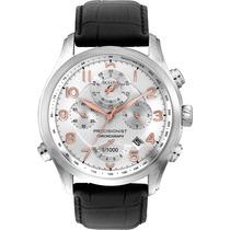 Reloj Bulova Precisionist 96b182 Fondo Blanco Correa Cuero