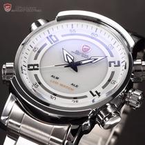 Reloj Shark Mako Sh062 Doble Hora Alarma Y Fecha Led Nuevo
