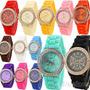 Reloj Geneva Silicona Brillantes Delux Por Mayor