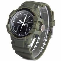 Reloj Skmei 1440, Green Análogo-digital, Militar, Waterproof