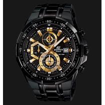 Reloj P/hombre Casio Edifice Efr 539bk 1a Sellado Nuevo