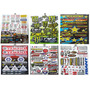 Plancha De Sticker Monster Alpinestars Motocross Crf R15 Fz