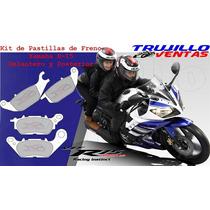 Kit De Pastillas Para Yamaha R15 Delanteras Y Posteriores