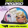 Casco Moto Niño Barbie Pegaso S/35 Importaciones Pegaso