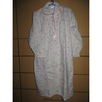 Camison Ropa Dormir Pijama Bata Franela De Dama Talla S