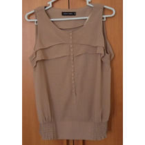 Blusa Elegante Mujer-nuevo-talla Small-marron Claro Oferta