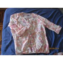 Blusa Estampada Talla L Manga 3/4 Leonisa Algodon