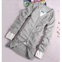 Oix Closet Cardigan De Algodón Color Gris - Blusas, Vestido