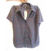 Blusa Tipo Camisa Para Dama - Marca: Voice