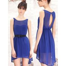 Lindo Vestido Gasa Azul!