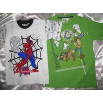 Polo Niño Hombre Araña Y Toy Story T6 Ambos X 25 Soles
