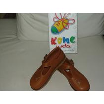 Zapatos Niñas Marca Kone Tallas 30,31,32 100% Cuero En Caja