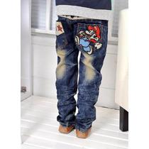 Meily Kids Fashion Jean Mario Bros Kp035 Pantalon Focalizado