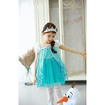 Vestidos De Fiesta De Elsa Frozen Importados Para Niñas