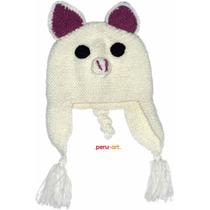 Chullos Alpaca Diseño Animalitos Niños- Artesanias Regalos