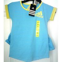 Adidas Original - Conjunto 2 Pzs. Niñas Falda Y Polo
