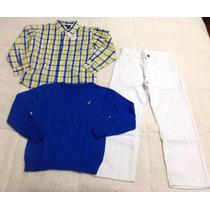 Conjunto Nautica Camisa Chompa Panta Para Niños. Nike Adidas