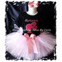 Barbie Tutu Set Vestido Polo Falda Bordado
