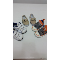 3 Pares De Zapatillas Bebé Puma+polo Ralph Lauren+converse