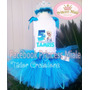 Set Tutu Elsa Frozen Cumpleaños Vestido Niña Disfraz Fiesta