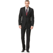 Traje Terno Kenneth Cole Reaction Negro Entallado Slim Fit