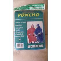 Poncho Ligero Impermeable Evite La Lluvia Camping Viaje