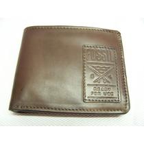 Billetera Fossil Cuero Genuino Curl Traveler Leather 2 Id Wi