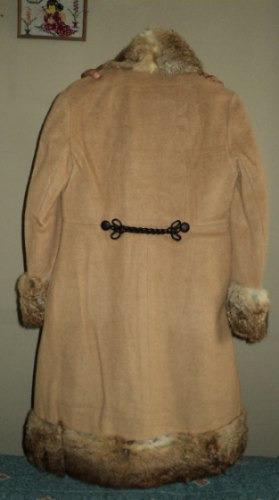 Saco Dama Piel Color Camello Unico Abrigo Elegante Y Sexy