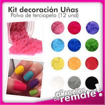 Diseño Decoracion Uñas Esmalte Terciopelo Peluche Caviar X12