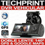 Dvr Vehicular Doble Camara + Gps + Google Maps Gran Angular