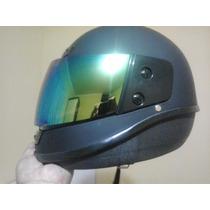 Casco Para Motociclista Doble Proteccion Con U.v.