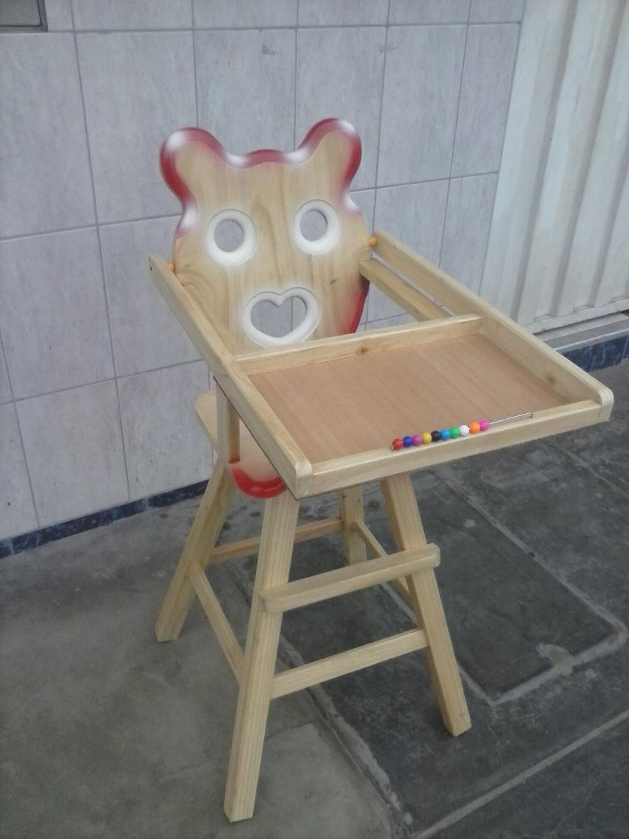 Silla de bebe madera madera pino nuevo movilidad gartis s 135 00 en mercadolibre - Silla de mesa para bebe ...