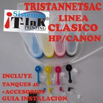 Kit Sistema Continuo Ciss Clasico Hp/canon Full Con Tinta