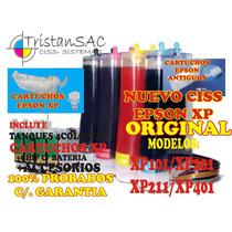 Nuevo Sistema Ciss Epson Xp201/xp401 Full Original