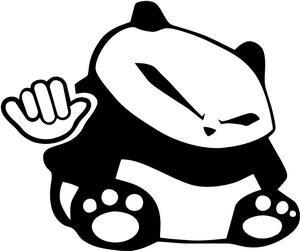 stickers panda jdm para pegar en autos o camionetas s