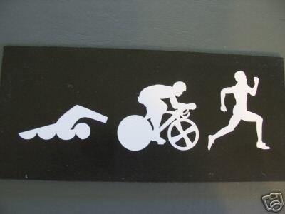 Stickers Triathlon Deportes Para Pegar En Autos