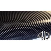 Vinilo Fibra De Carbono 4d Con Burbuja De Aire - Vinil Negro