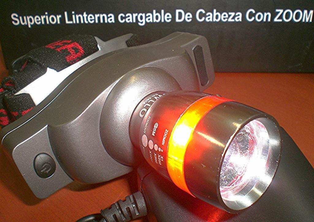 Superior potente linterna de cabeza led cree zoom for Linterna de led potente