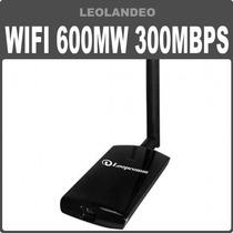 Usb Wifi Alta Potencia 600 Mw Y Maxima Velocidad 300mbps