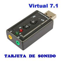 Tarjeta De Sonido 7.1 Canales Adaptador Usb Audio 3d Externo