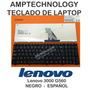 Teclado Laptop Lenovo 3000 G560 G565 Version2 Negro Español
