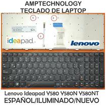 Teclado Laptop Lenovo Ideapad Y580 Y580n Y580n Español Nuevo