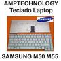 Teclado De Laptop Samsung M50 M55 Español Nuevo Plateado