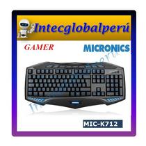 Teclado Gamer Retroiluminado Micronics K712