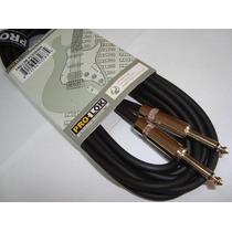 Cable Guitarra Importado Pro-lok 6 Metros Conectores Neutrik
