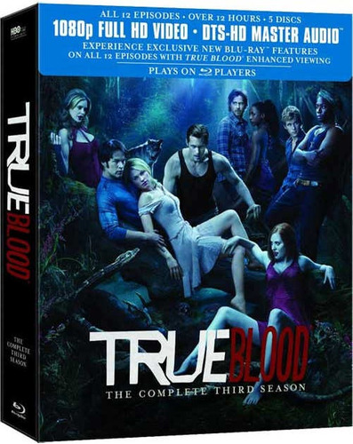 True Blood Tercera Temporada Completa Blu-ray