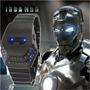 Reloj Led Binario - Iron Man - Acero Inoxidable