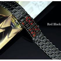 Subasta Reloj Digital Led Negro Estilo Samurai Unixes.pulser